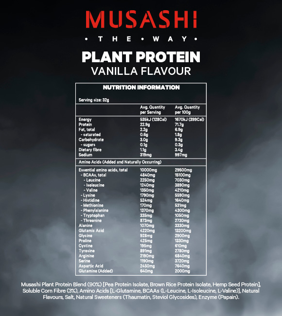 Musashi-Plant-Protein-Powder-For-Muscle-Growth-amp-Repair-With-Amino-Acids thumbnail 10